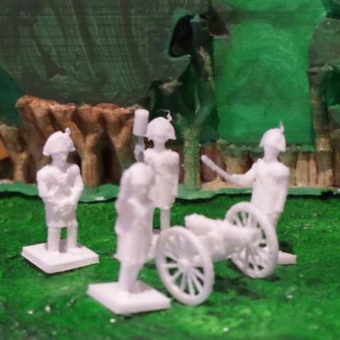 Download free 3D printer designs Napoleonics - Part 14 - Austrian Gun Crew, Earsling