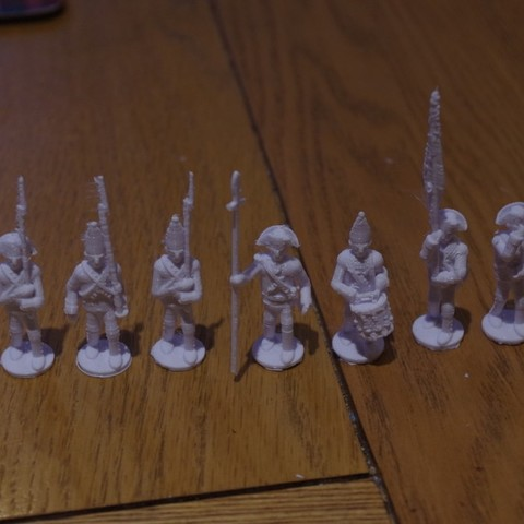 Free STL file American War of Independence - Part 5 - Hessian Infantry, Earsling