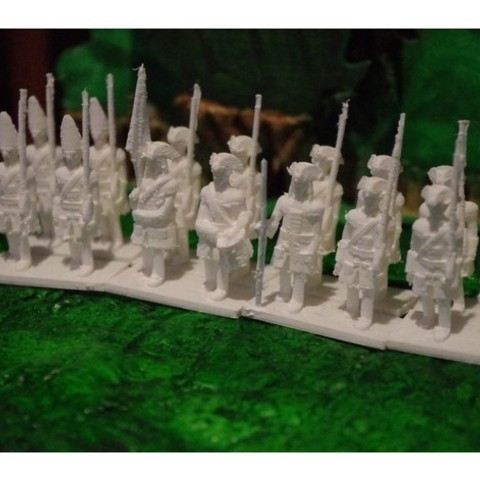 Free 3D printer file Age of Marlborough - Part 1 - British Infantry, Earsling