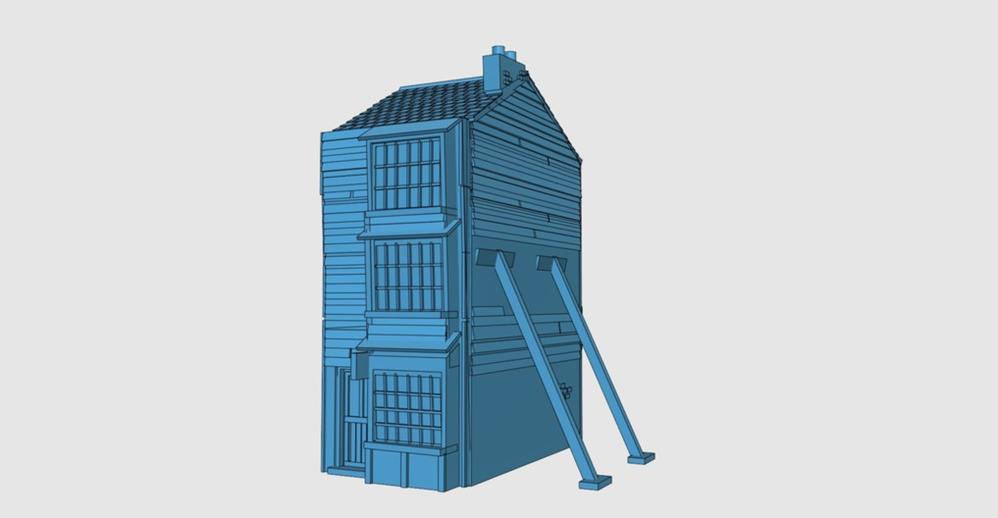 Capture d'écran 2017-06-30 à 10.05.32.png Download free STL file Ripper's London - Wooden Building / Shop • 3D printer design, Earsling