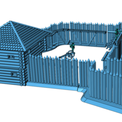 fort1_2.png Download free STL file French and Indian Wars - The Modular Fort • 3D printer design, Earsling