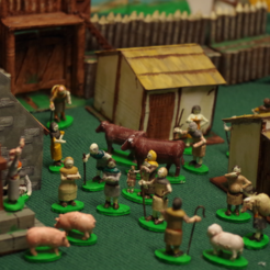 Free 3D printer designs Dark Age Townsfolk, Villagefolk and Domestic Beasts, Earsling