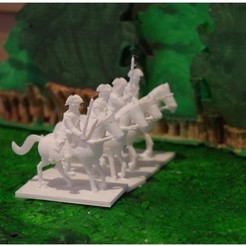 Download free 3D printer designs Age of Marlborough - Part 2 - Cavalry, Earsling