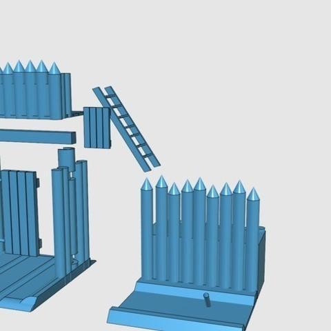 b53d0abc765ec26b128c394cc545be71_preview_featured.jpg Télécharger fichier STL gratuit Saxony Burh Fortified Gate • Modèle pour impression 3D, Earsling