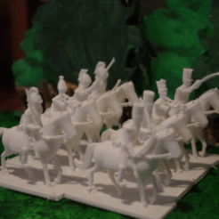 Free 3D printer designs Napoleonics - Part 4 - British Cavalry, Earsling