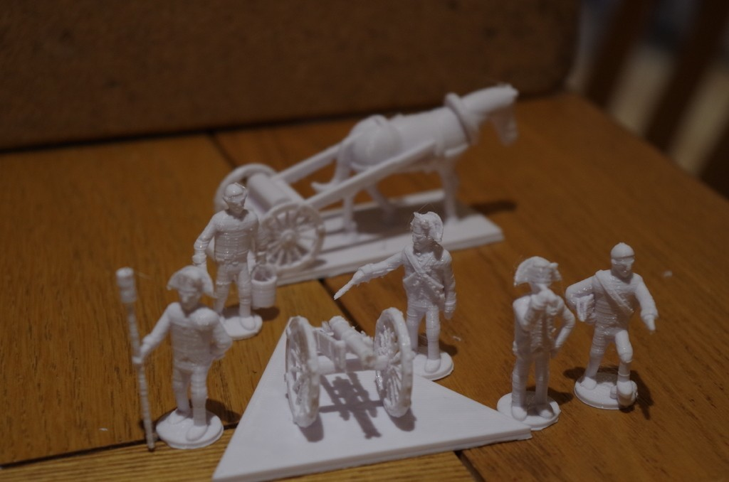 76269316c0aecbddfe9ccd0081c0b0bf_display_large.JPG Download free STL file American War of Independence - Part 8 - Generic artillery and limbers • 3D printer object, Earsling