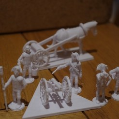 Free 3D model American War of Independence - Part 8 - Generic artillery and limbers, Earsling