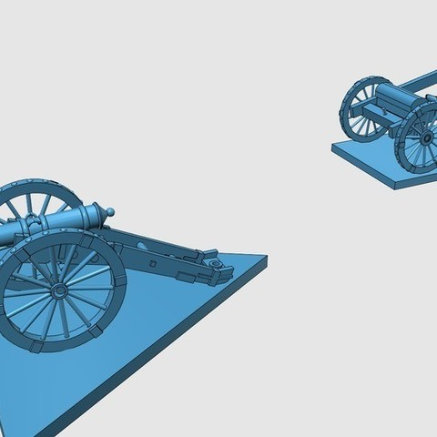 c38115c5c584b6877fb09b8efde9696a_display_large.jpg Download free STL file American War of Independence - Part 8 - Generic artillery and limbers • 3D printer object, Earsling