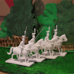 Download free STL file Napoleonics - Part 7b - Uhlans • 3D printer object, Earsling