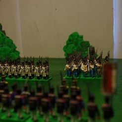 Free 3D printer model Napoleonics - Part 17 - Austrian Musketeers Grenadiers and Landwehr Mk III, Earsling