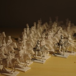Download free STL file Napoleonics - Part 21 - Austrian Cuirassiers, Earsling