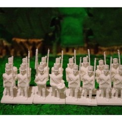 Free 3D printer designs Napoleonics - Part 3 - British Infantry, Earsling