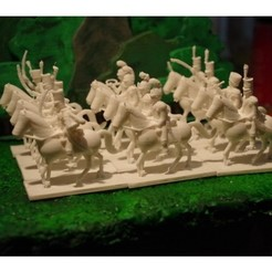 Download free STL file Napoleonics - Part 2 - French/Allies Cavalry • 3D print object, Earsling