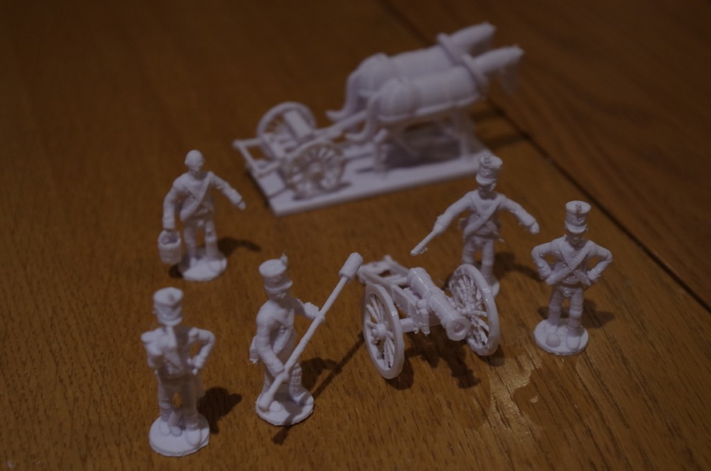 72d1150849d908c2f407691aeb9ad80b_display_large.JPG Download free STL file Napoleonics - Part 18 - French Foot Artillery and Limber • 3D print design, Earsling