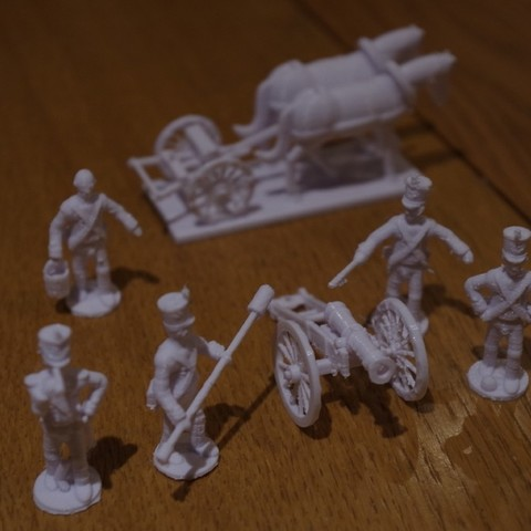 Download free STL file Napoleonics - Part 18 - French Foot Artillery and Limber, Earsling