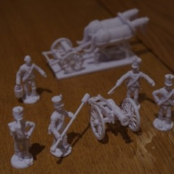 Free STL Napoleonics - Part 18 - French Foot Artillery and Limber, Earsling