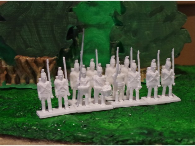 2bae9b18bc1d4bf7f6b76c47af9394a4_preview_featured.jpg Download free STL file Napoleonics - Part 12 - Austrian Infantry • 3D printing object, Earsling