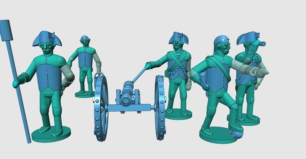 213a1ae18d8e8d381d33615055d04018_display_large.jpg Download free STL file American War of Independence - Part 7 - Generic artillery crew • Object to 3D print, Earsling