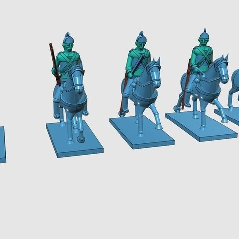 c66a430936eb367f0971fd64f454cde3_display_large.jpg Download free STL file American War of Independence - Part 3 - British Lt Dragoons • 3D printable model, Earsling