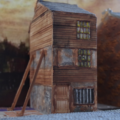 Free 3D print files Ripper's London - Wooden Building / Shop, Earsling