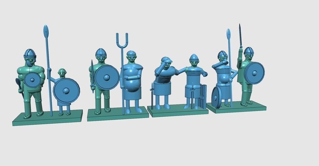 fbf53f4dc7996b85f4870f797d42dca1_display_large.jpg Télécharger fichier STL gratuit Le Doughty Saxon Fyrd • Modèle à imprimer en 3D, Earsling