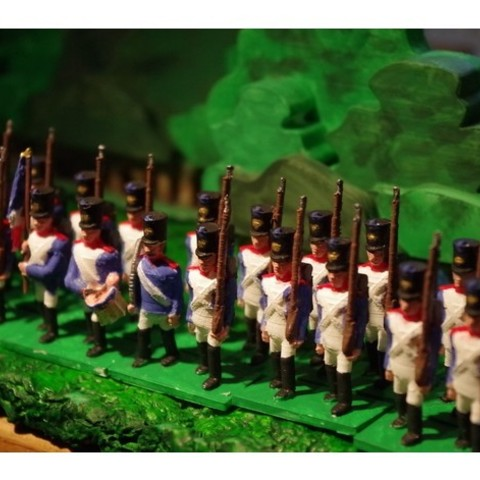 2cebf2cc7182544691367b59fee680b0_preview_featured.JPG Download free STL file Napoleonics - Part 1 - French/Allies Line Infantry • Object to 3D print, Earsling