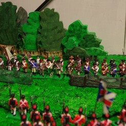 Free 3D printer files American War of Independence - Part 2 - American Minutemen / Armed militia/colonists, Earsling