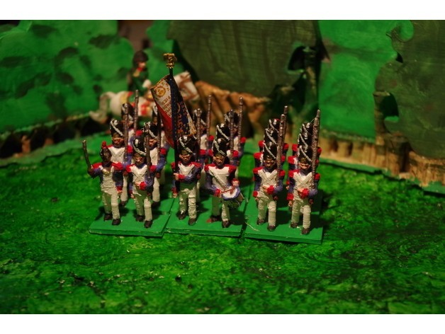 2b1a0bd70740bbdab02fda3cef53ab03_preview_featured.JPG Download free STL file Napoleonics - Part 15 - French Old Guard Grenadiers • Template to 3D print, Earsling