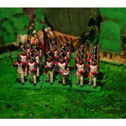 Download free 3D printer files Napoleonics - Part 15 - French Old Guard Grenadiers, Earsling
