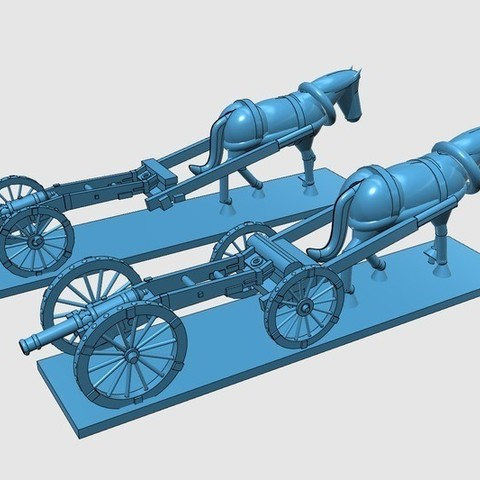 034e1cf4b7545ac961eba366f6ff313a_display_large.jpg Download free STL file American War of Independence - Part 8 - Generic artillery and limbers • 3D printer object, Earsling