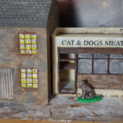 Free 3D printer designs Ripper's London - The Cat and Dog Meat Seller, Earsling