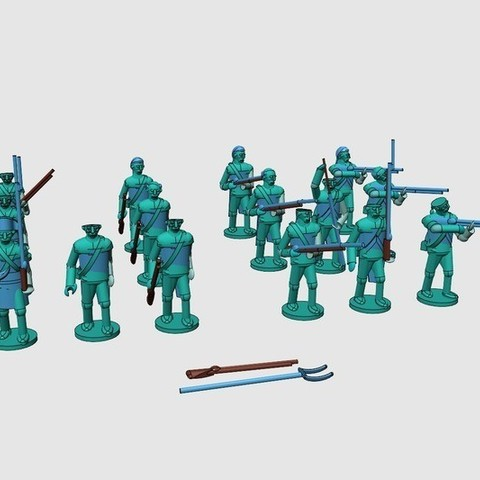 552513fc6e68d5c8fe2762c1ff3eae0e_display_large.jpg Download free STL file American War of Independence - Part 2 - American Minutemen / Armed militia/colonists • Model to 3D print, Earsling
