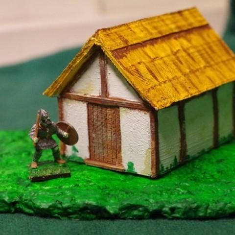 Download free STL file Saxon Burh Hut • 3D printer template, Earsling