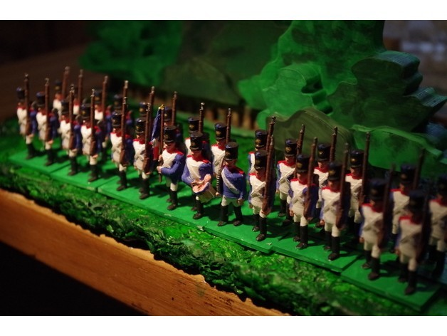 75546fbd6d3eee83e55e1a64b7064e17_preview_featured.JPG Download free STL file Napoleonics - Part 1 - French/Allies Line Infantry • Object to 3D print, Earsling