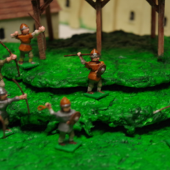 Free stl files Generic Sword'n'Board 28mm Archers and Skirmishers, Earsling