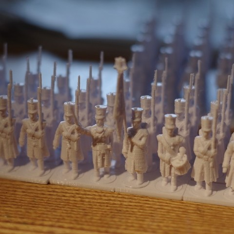 Download free 3D printing designs Napoleonics - Part 19 - French Infantry in greatcoats, Earsling