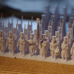 Free STL files Napoleonics - Part 19 - French Infantry in greatcoats, Earsling