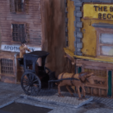 Download free 3D printing templates Ripper's London - The Hansom Cab, Earsling