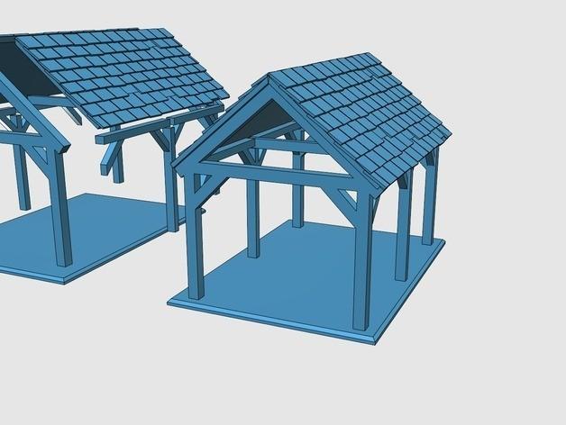 239a0018d8cb3da7dfc6259827955160_preview_featured.jpg Télécharger fichier STL gratuit Saxon Barn 1 • Objet pour imprimante 3D, Earsling