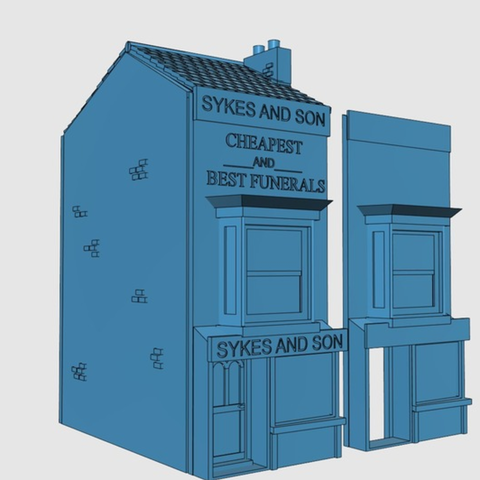 Capture d'écran 2017-06-30 à 10.08.46.png Download free STL file Ripper's London - Funeral Parlour / Shop • 3D print template, Earsling