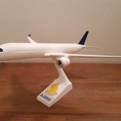 Download 3D printer files AIBRUS A350-900 xwb  SUPER DETAILED (SNAP-ON), Efren12