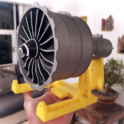 Descargar modelos 3D Nuevo motor turbofán a escala Ventilador GENX, Efren12