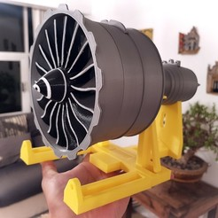 1.jpg Download STL file New Scale Turbofan Engine GENX Fan • 3D print model, Efren12