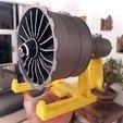 Download 3D print files New Scale Turbofan Engine GENX Fan, Efren12
