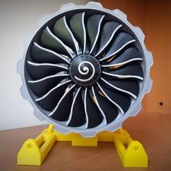 Descargar modelo 3D Nuevo Motor Turbofan Scale GENX Fan, Efren12