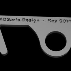 Download 3D printing designs Key covid - 19, ADSarts_Design