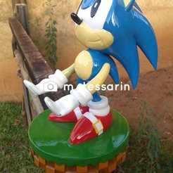 WhatsApp Image 2020-06-11 at 18.46.35.jpeg Download STL file Sonic Cellphone and joystick holder • 3D printable model, RogerioCorreadeMelo