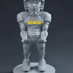 front.png Download STL file American football player • 3D printable design, RogerioCorreadeMelo