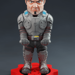Download 3D print files Gears of War Marcus , RogerioCorreadeMelo