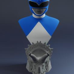 ranger.png Télécharger fichier STL Buste des Power Rangers (Blue Ranger) • Design imprimable en 3D, RCM3D